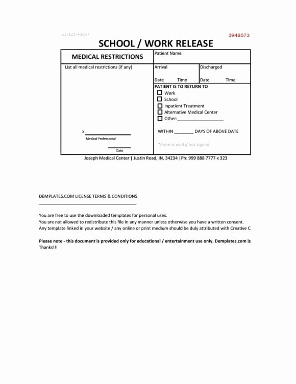 Fake Doctors Note Free Printable Unique 42 Fake Doctor S Note Templates for School & Work