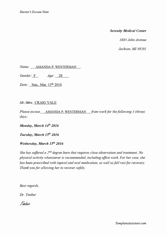 Fake Doctors Note Unique 42 Fake Doctor S Note Templates for School & Work