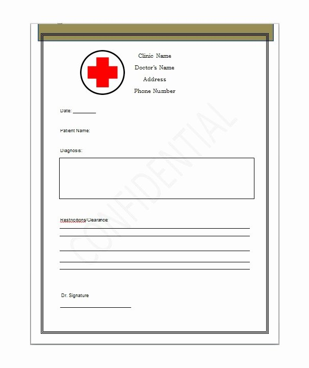 Fake Doctors Note with Signature Awesome Fake Doctors Note Template – 27 Free Word Pot Pdf