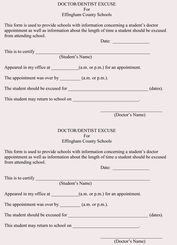 Fake Doctors Note with Signature Best Of Fake Doctors Note Templates & Excuses
