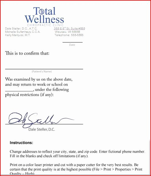 Fake Dr Notes for Work Fresh Free Fake Doctors Note Template Download Will Verizon