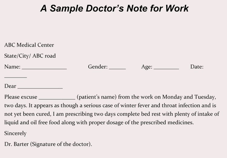 Fake Dr Notes for Work Luxury Using A Fake Doctors Note Download Excuse Notes and