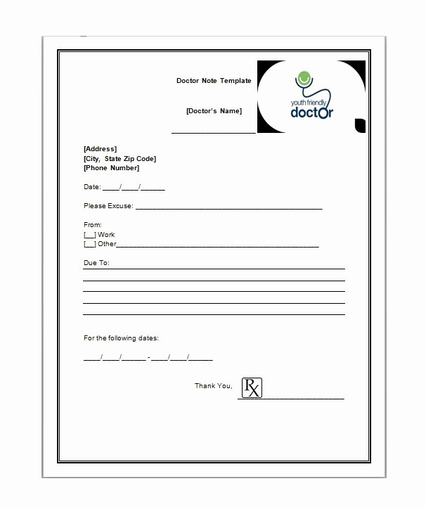 Fake Dr Notes Free Beautiful 5 Free Fake Doctors Note Templates