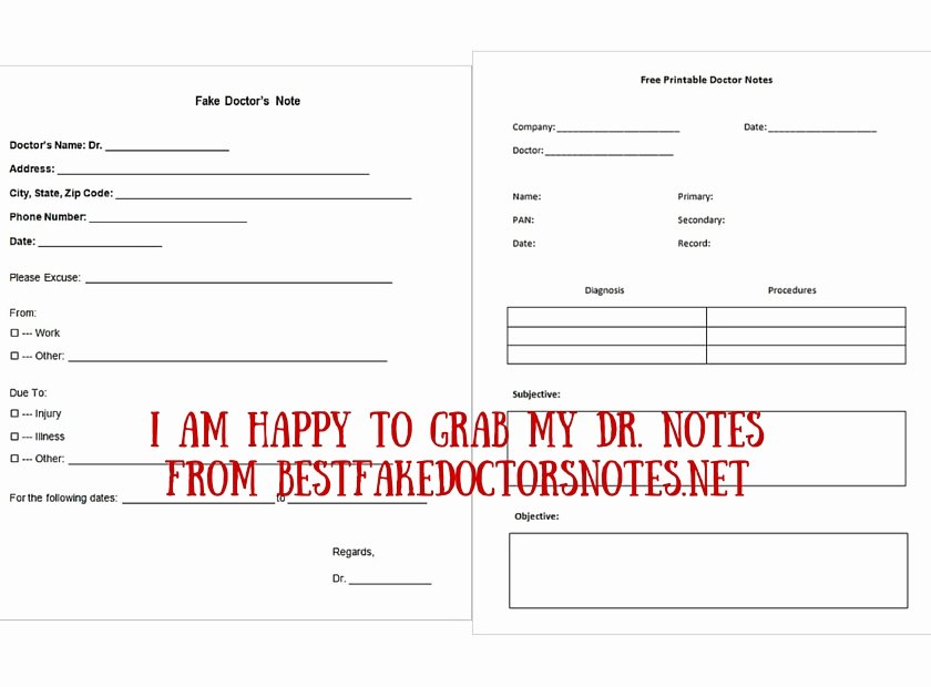Fake Dr Notes Free Lovely 4 Easy Ways to Use A Printable Fake Doctors Note