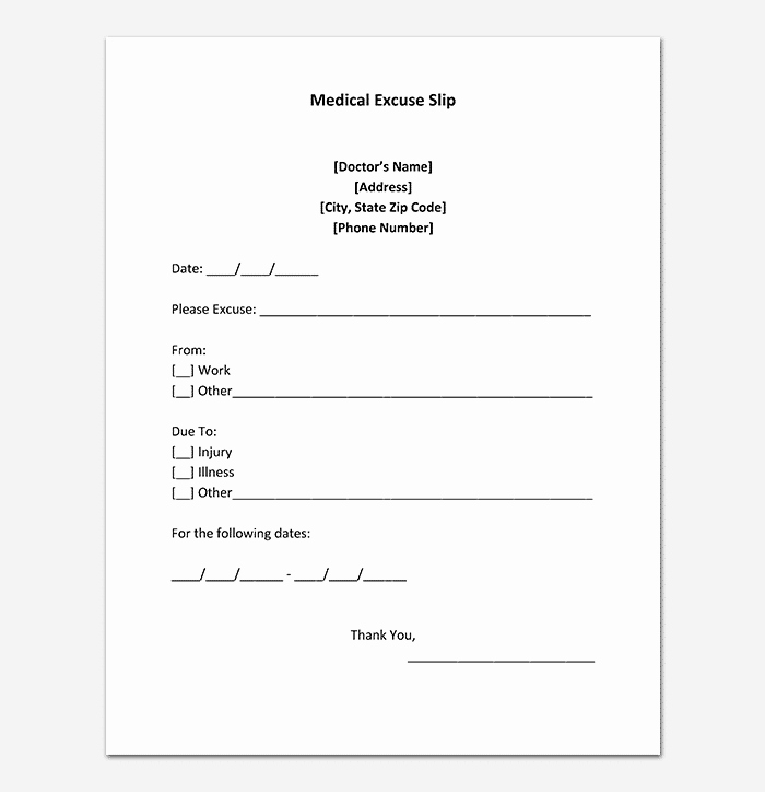Fake Dr Notes Free Luxury 40 Fake Doctors Note Template Download [pdf Doc]