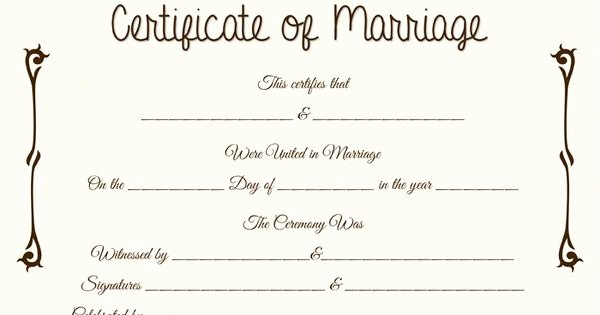 Fake Marriage Certificate Template Beautiful Fake Floral Corner Marriage Certificate Template