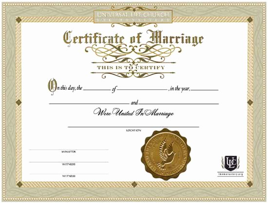 Fake Marriage Certificate Template Beautiful Wedding Certificates Line