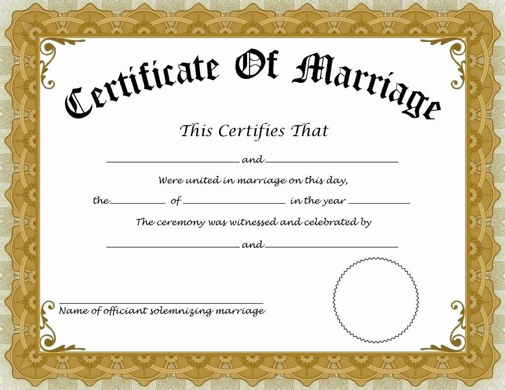 Fake Marriage Certificate Template Fresh How to Apply for Marriage Certificate In India – Details