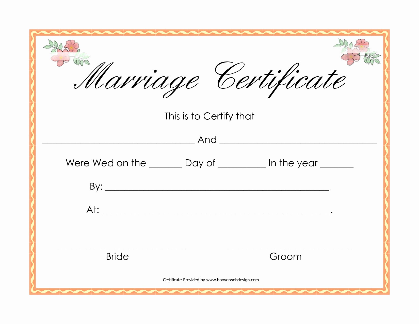 Fake Marriage Certificate Template Inspirational Fake Marriage Certificate Printable Free Free Printable