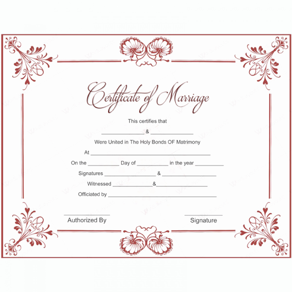 Fake Marriage Certificate Template Inspirational Marriage Certificate 05 Word Layouts