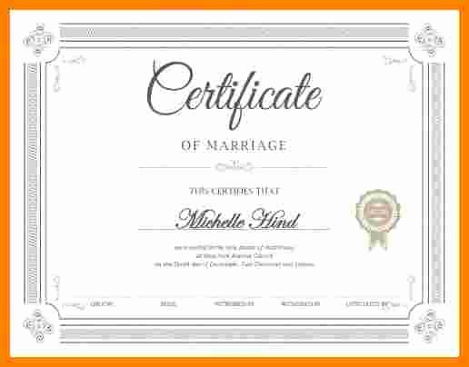 Fake Marriage Certificate Template Luxury 6 Fake Marriage Certificate