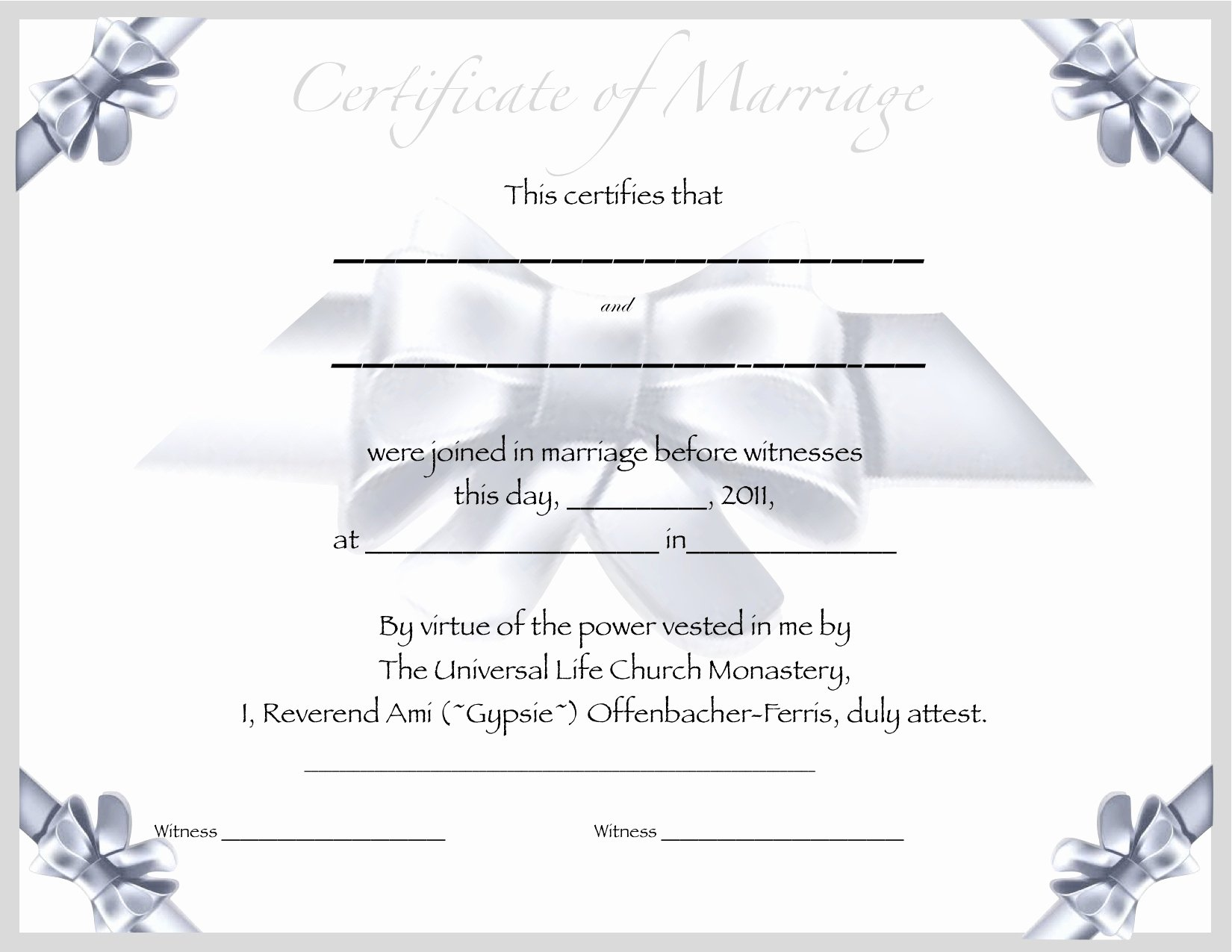 Fake Marriage Certificate Template Luxury Best S Of Printable Fake Marriage License Printable