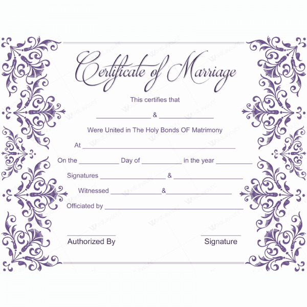 Fake Marriage Certificate Template Unique Marriage Certificate 02 Word Layouts