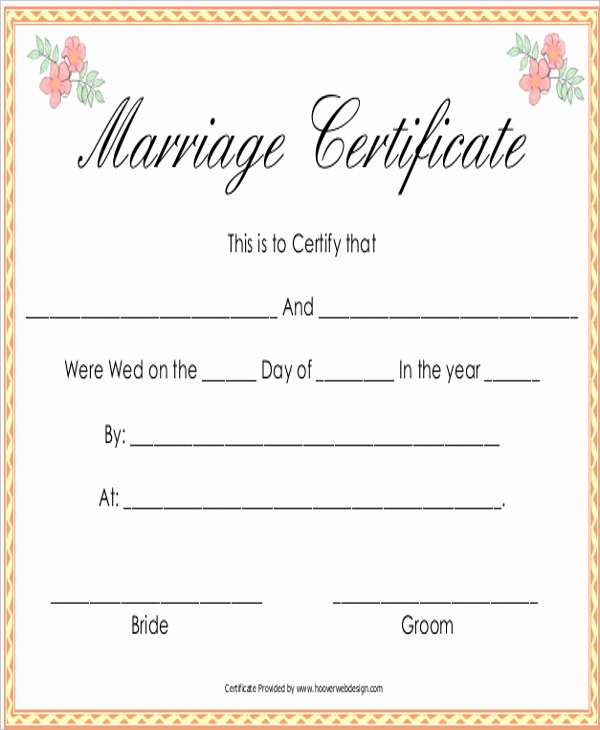 Fake Marriage Certificate Template Unique Sample Marriage Certificate 16 Documents In Pdf Word