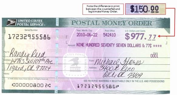 Fake Money order Template New Counterfeit Money orders On the Rise