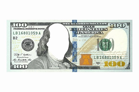 Fake Money Template Photoshop Fresh $100 Dollar Bill without Face Templates Creative Market