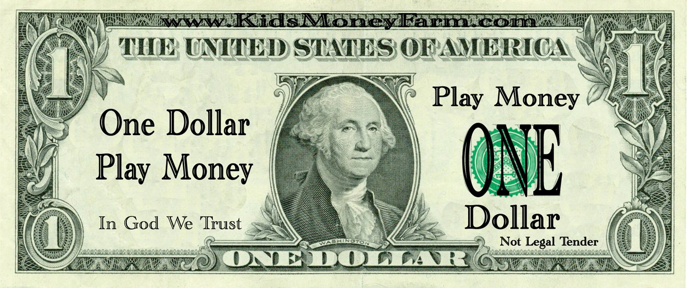 Fake Money Template Word Fresh Best S Of Play Money Template Pdf Personalized Play