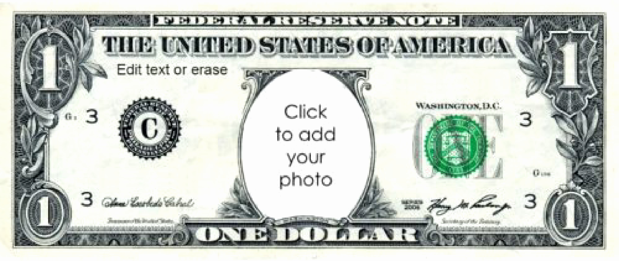 Fake Money Template Word Lovely Play Money 1 Dollar