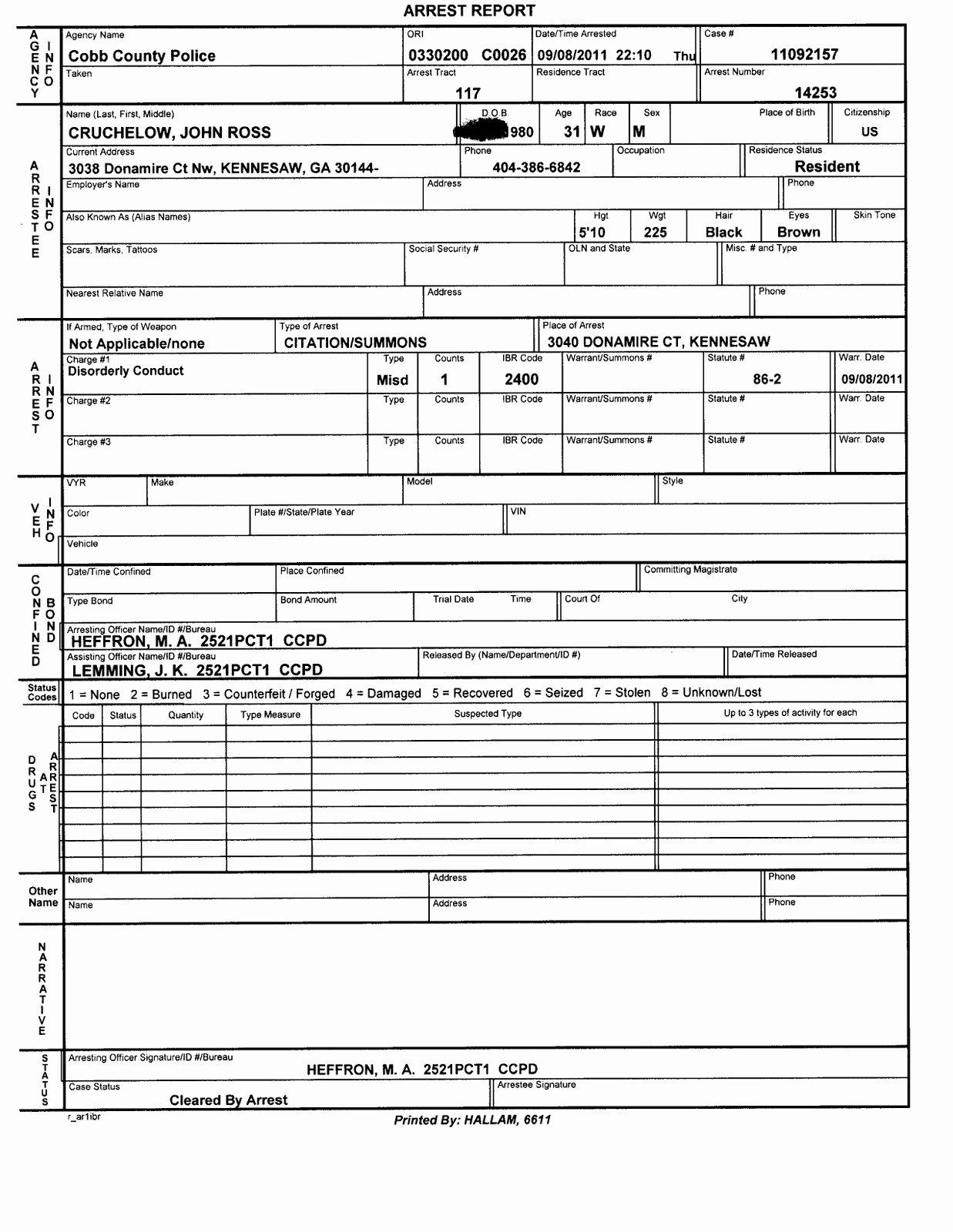 Fake Police Report form Best Of Police Report Template