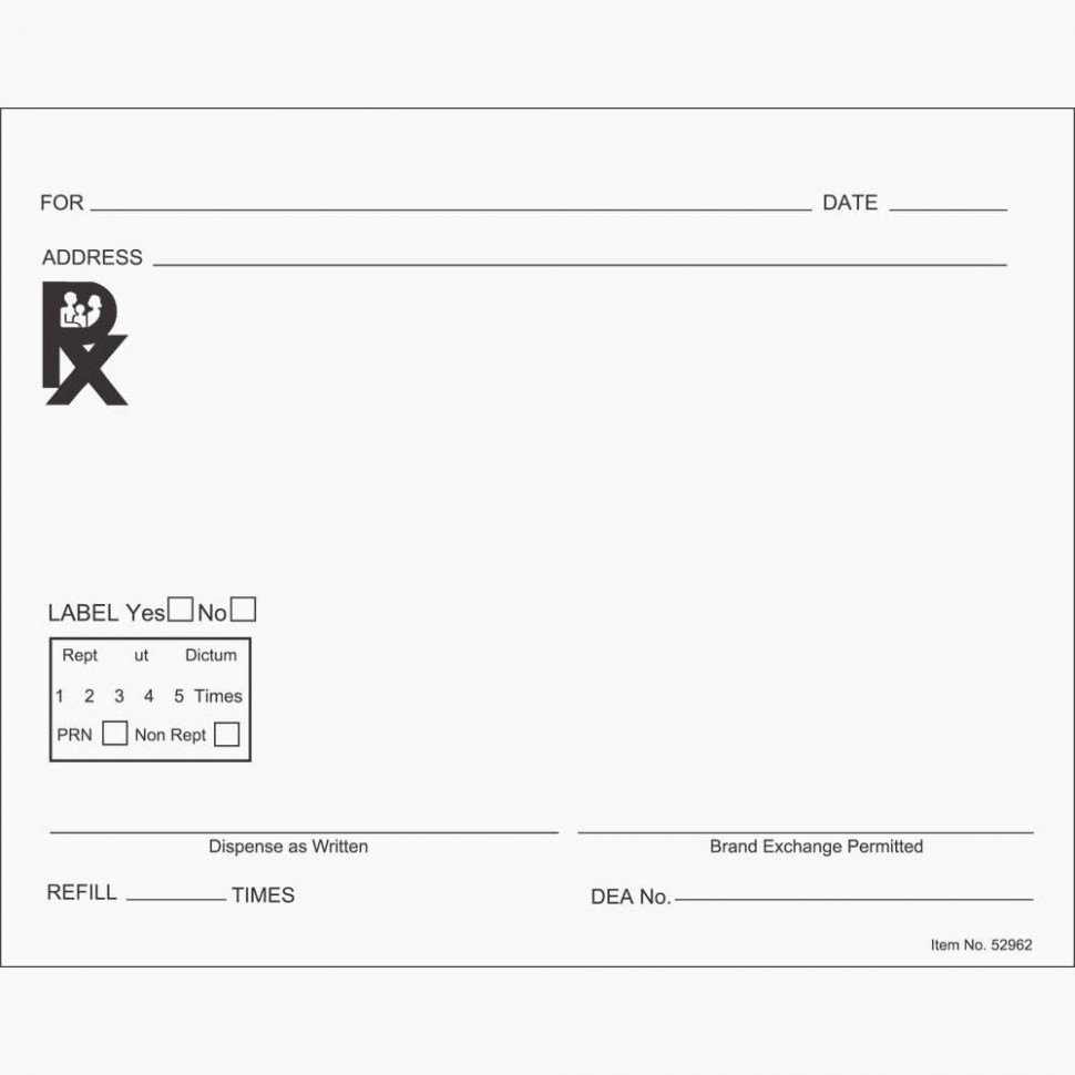 Fake Prescription Pad Template Beautiful 15 Great Prescription Bottle