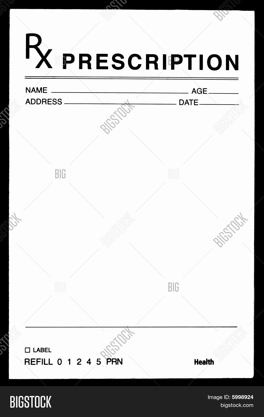 Fake Prescription Pad Template Beautiful Blank Prescription form Image Cg5p C