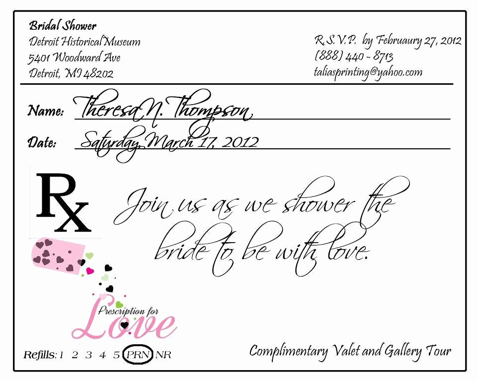 Fake Prescription Pad Template Beautiful Prescription Pad Invitation Custom Listing for Krista