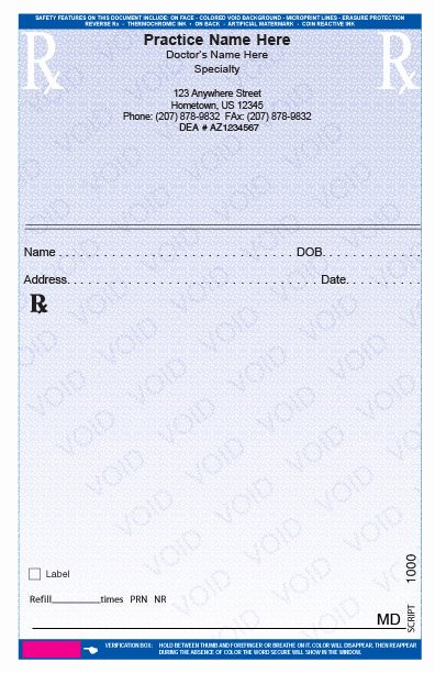Fake Prescription Pad Template Best Of Rxpads Home Prescription Pads