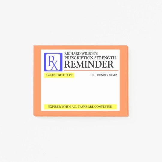 Fake Prescription Pad Template Luxury Funny Prescription Label Post It Notes