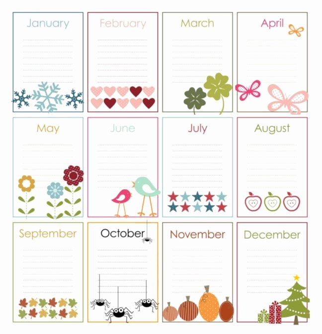 Family Birthday Calendar Template Lovely Best 25 Birthday Calendar Ideas On Pinterest
