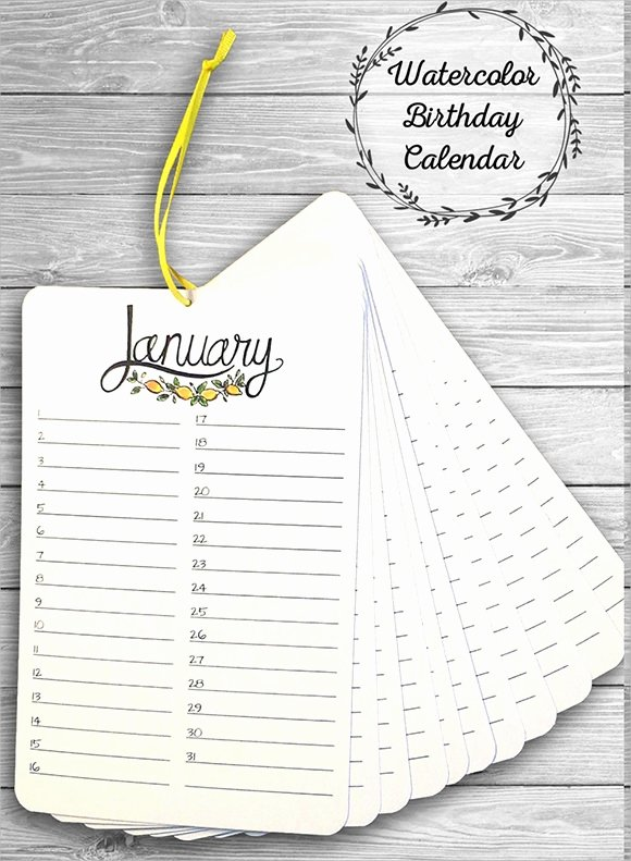 Family Birthday Calendar Template Lovely Free 15 Birthday Calendar Templates In Google Docs