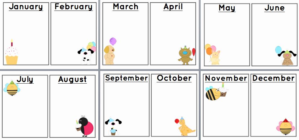 Family Birthday Calendar Template Unique Sunshine and Teaching Free Printable Birthday Chart