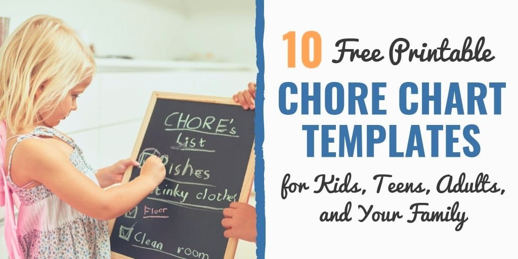 Family Chore Chart Templates Awesome 10 Free Printable Chore Chart Templates for Kids Teens