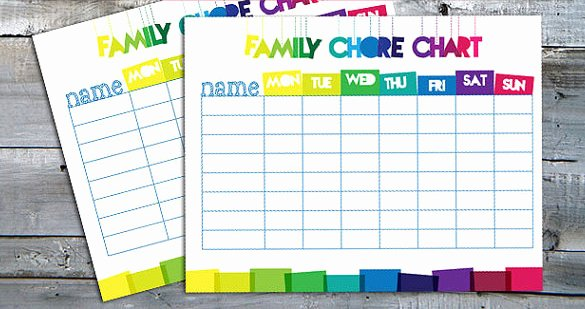 Family Chore Chart Templates Fresh Family Chore Chart Template – 13 Free Sample Example