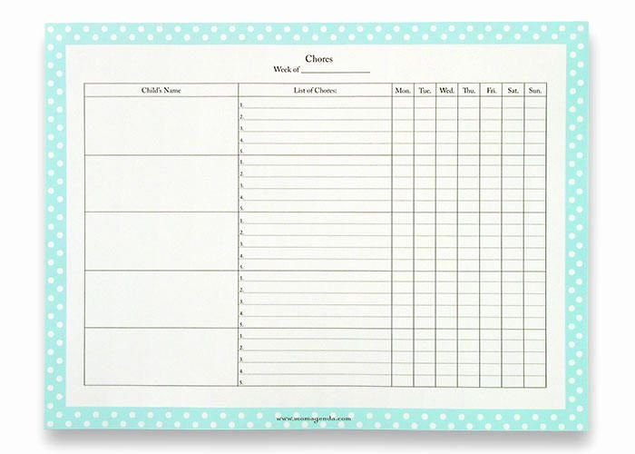 Family Chore Chart Templates Fresh Family Chore Chart Template