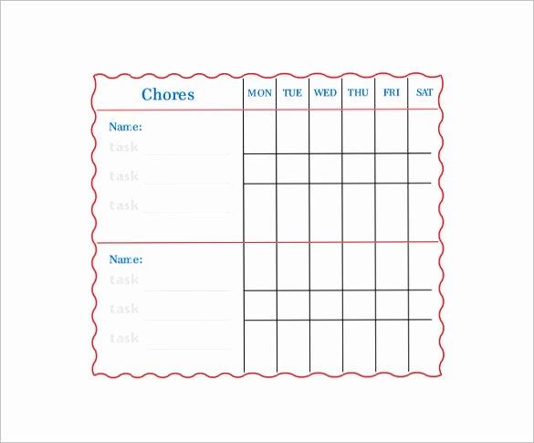 Family Chore Charts Templates Elegant Family Chore Chart Template – 13 Free Sample Example