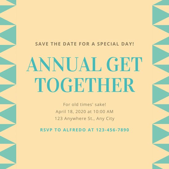 Family Get together Invitation Letter Awesome Customize 36 Get to Her Invitation Templates Online Canva