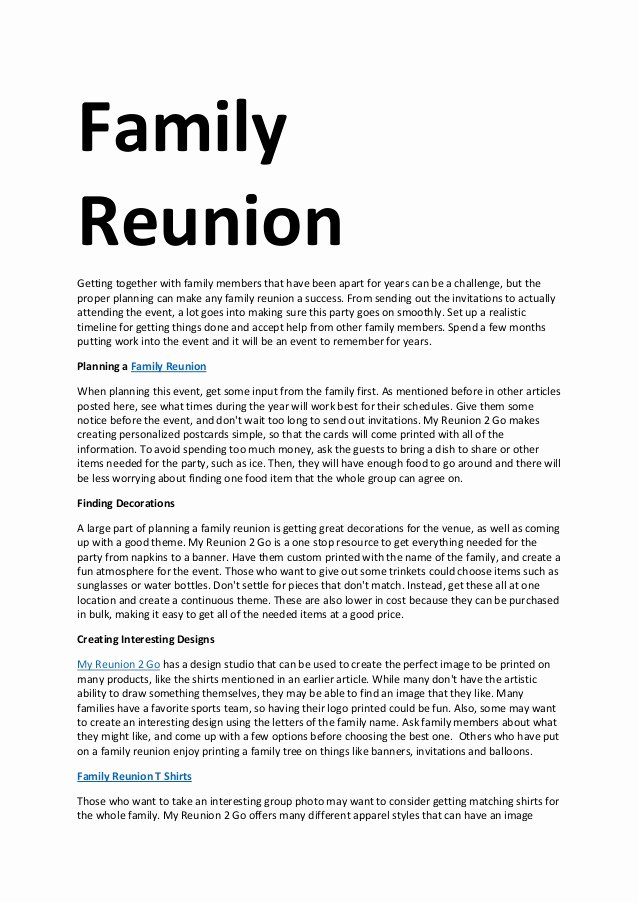 Family Get together Invitation Letter Best Of Family Reunion