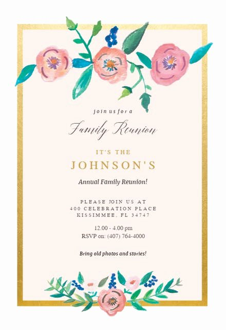 Family Get together Invitation Letter Elegant Family Reunion Invitation Templates Free