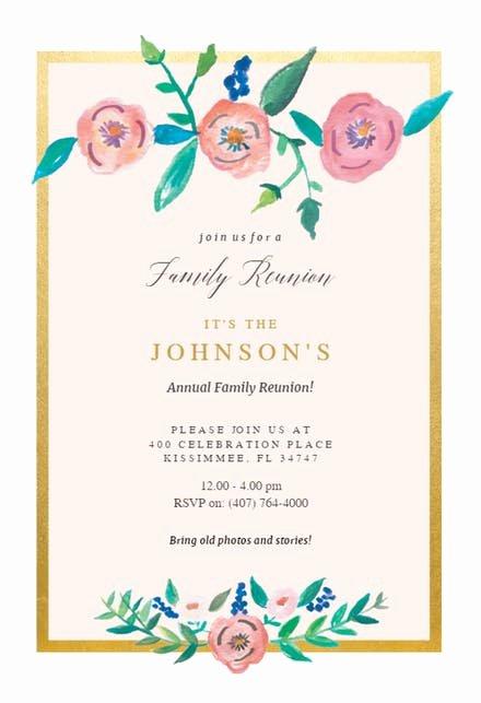 Family Get together Invitation Letter Elegant Family Reunion Invitation Templates Free