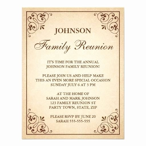 Family Get together Invitation Letter Fresh Family Reunion Invitations