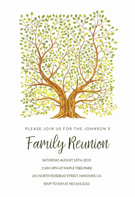 Family Get together Invitation Letter Lovely Family Reunion Invitation Templates Free