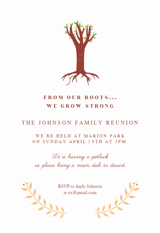 Family Get together Invitation Letter Lovely Our Roots Family Reunion Invitation Template Free