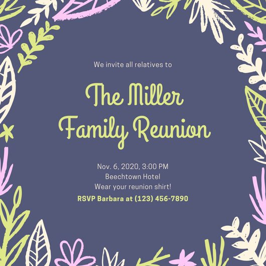 Family Get together Invitation Letter Luxury Customize 675 Get to Her Invitation Templates Online