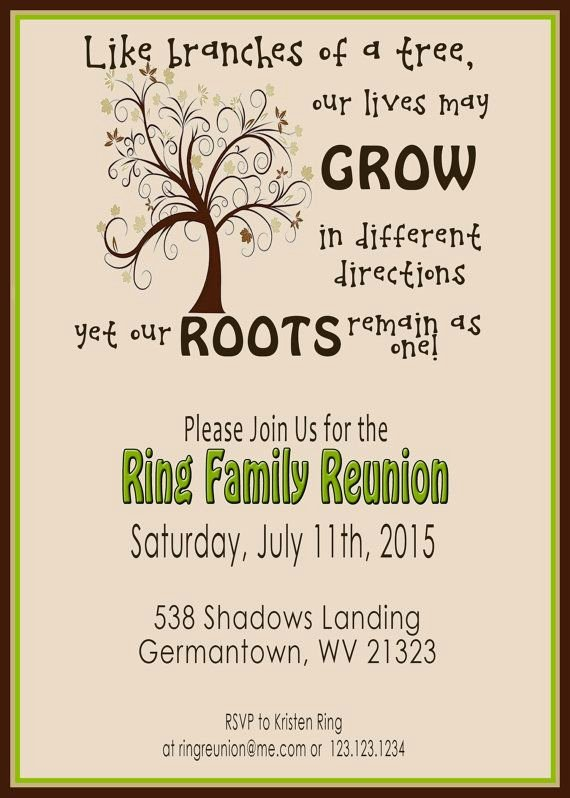 Family Get together Invitation Letter Luxury Family Reunion Invite Swirly Tree Printable Digital