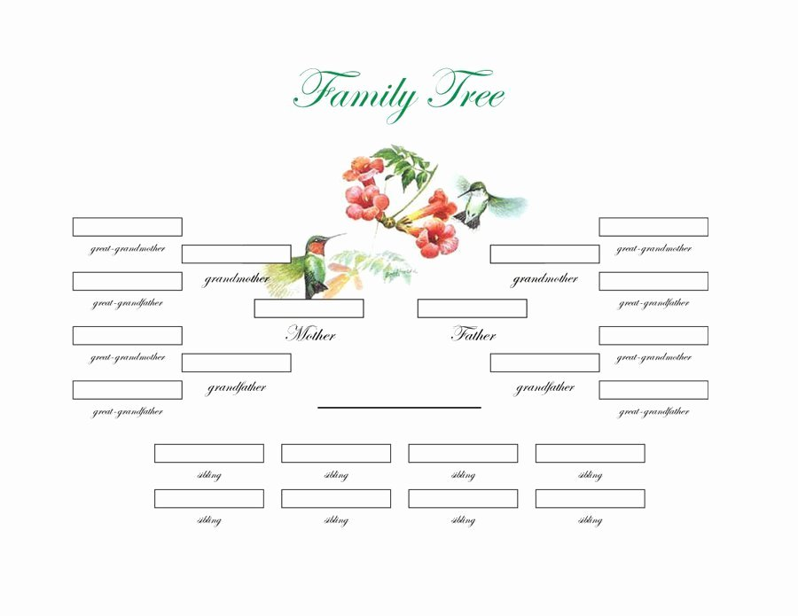 Family Health Tree Template Awesome Free Editable Family Tree Template