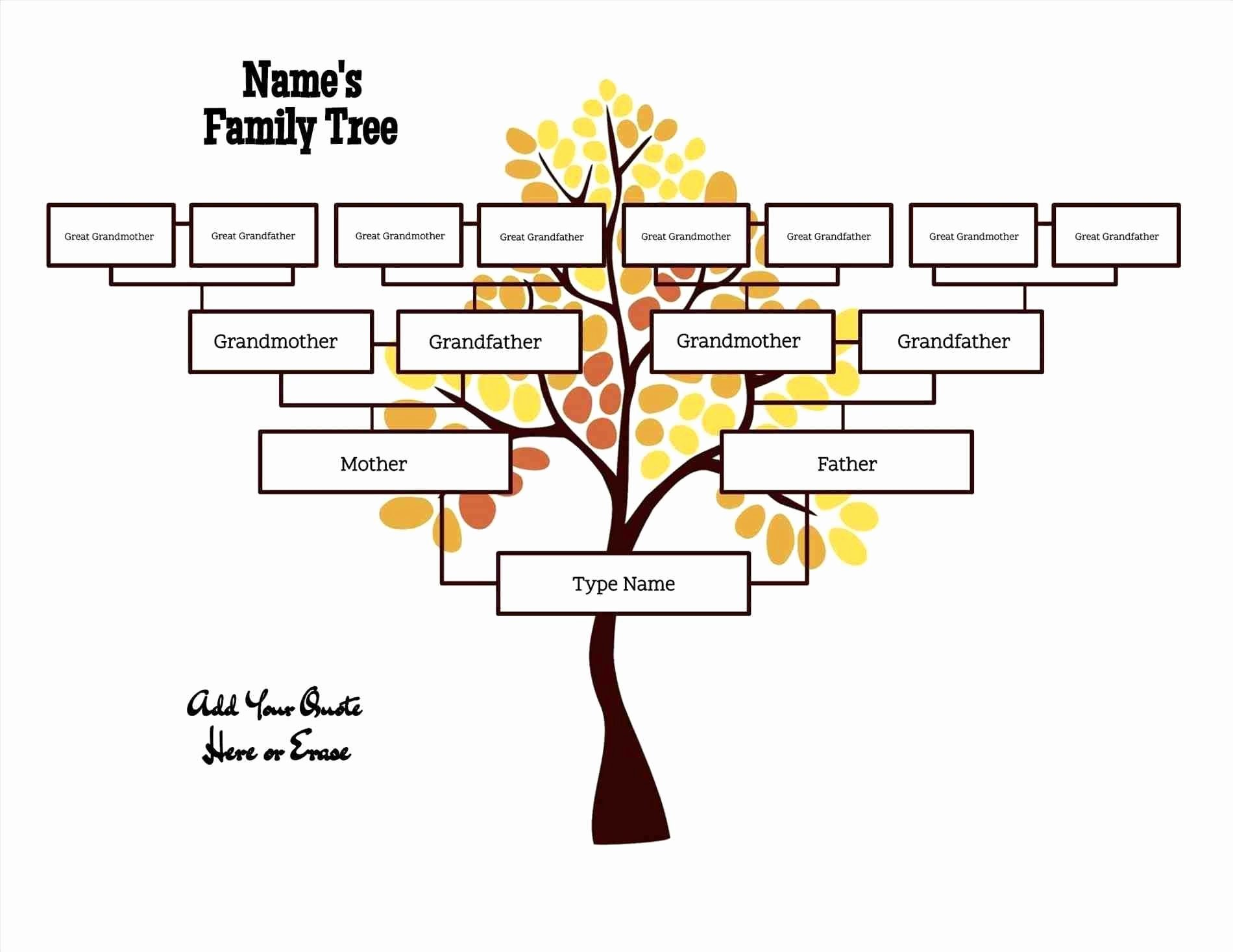 Family Health Tree Template Elegant Free Editable Family Tree Template Daily Roabox