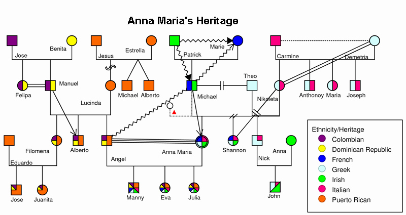 Family Health Tree Template Elegant Heritage Example Genograms and Genography
