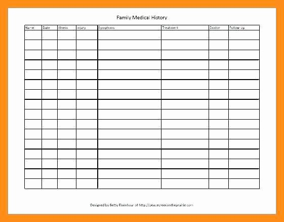 Family Health Tree Template Lovely 12 13 Medical History Template Excel