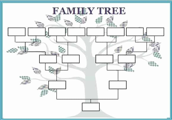 Family Health Tree Template Lovely 5 Family Tree Word Templates Excel Xlts