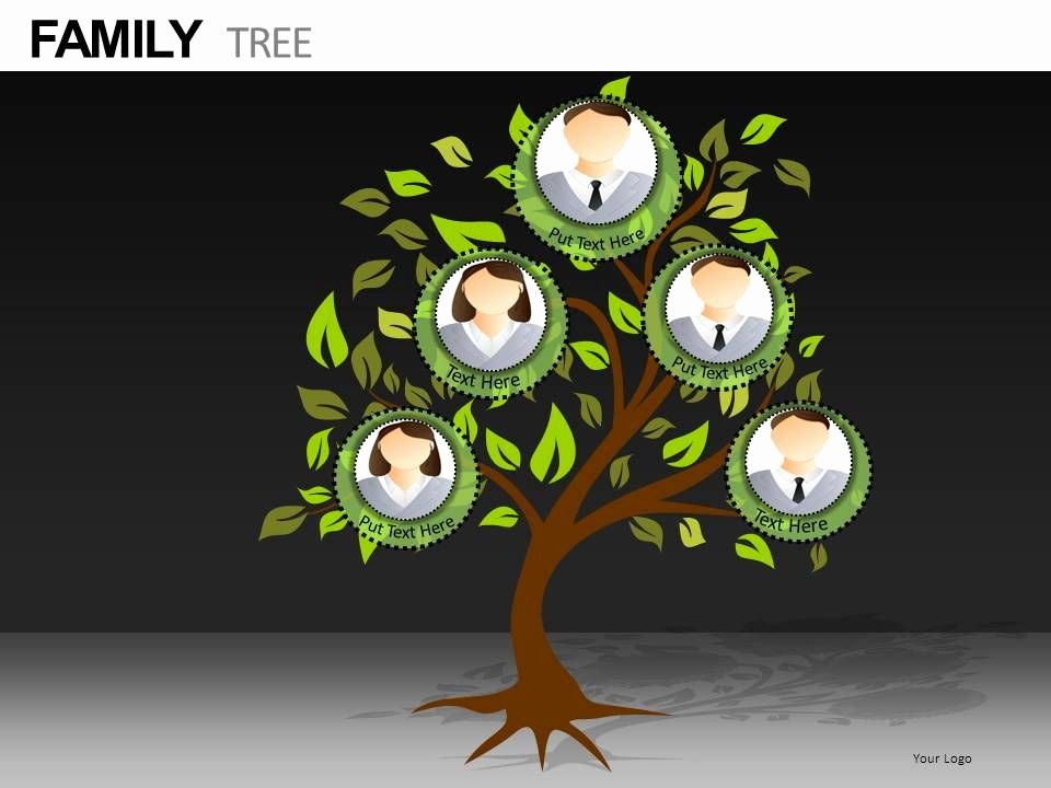 Family Health Tree Template Luxury Family Tree Powerpoint Presentation Slides Db
